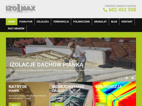 Izolmax - izolacje, ocieplenie natryskowe poddaszy - Krak贸w - natrysk pianek