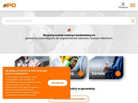 Wypożyczalnia maszyn budowlanych - JPD