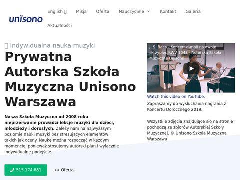 Szkoła Muzyczna Unisono Warszawa - Nauka Muzyki Przez Mistrzów