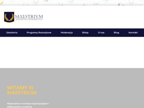 Szkoła liderów Maestrium - szkolenia dla menedżerów i kierowników