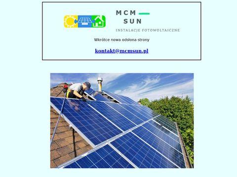 MCM Sun | Fotowoltaika | Instalacje Fotowoltaiczne | Mazowieckie