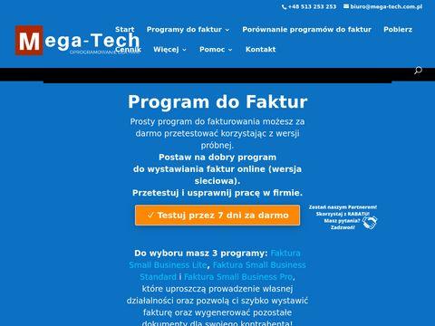 Program do faktur | Fakturowanie z JPK - Mega-Tech