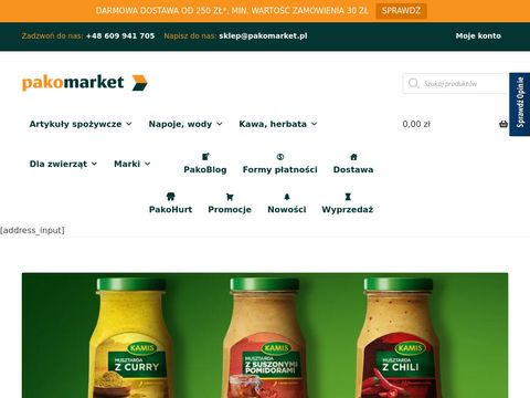 Spożywczy sklep internetowy Pruszków