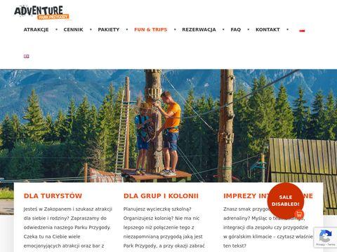 Park linowy na szczycie Guba艂贸wki | Zakopane