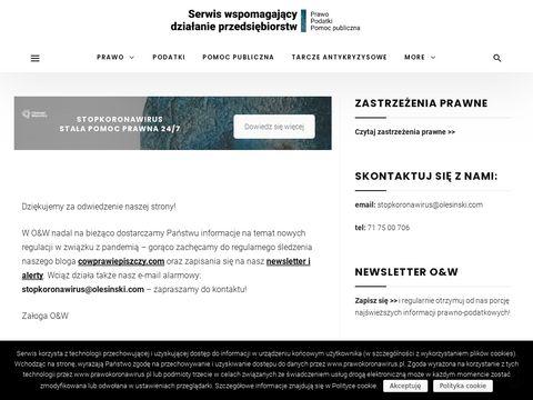 PrawoKoronawirus.pl - Koronawirus a prawo, podatki i pomoc publiczna