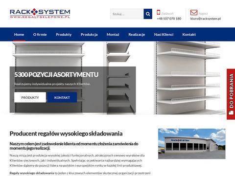 Regały wysokiego składowania - regalysklepowe.pl