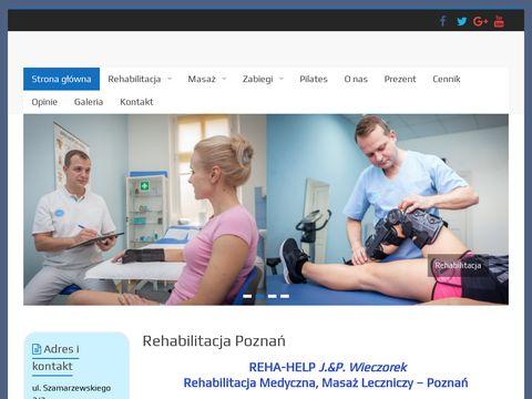 Rehabilitacja, masaż, fizjoterapia, fal uderzeniowa Poznań REHA-HELP