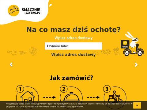 Smacznie i Szybko: jedzenie online z dowozem do domu, darmowa dostawa!