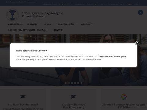 Stowarzyszenie Psychologów Chrześcijańskich - psychoterapia
