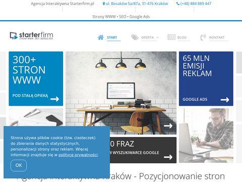Agencja interaktywna Krak贸w - pozycjonowanie stron Starterfirm.pl