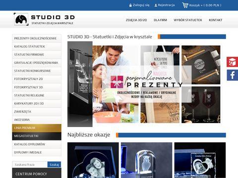 Grawerowanie na szkle - www.studio3d.com.pl