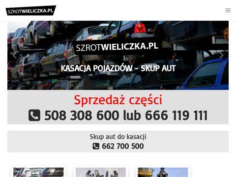Szrot Wieliczka - Kraków, Małopolska - Kasacja pojazdów - skup pojazdów