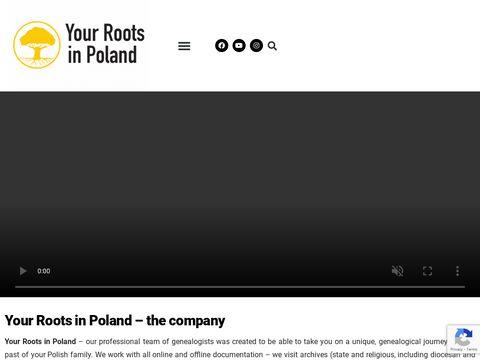 Yourrootsinpoland.com - wykonywanie drzew genealogicznych
