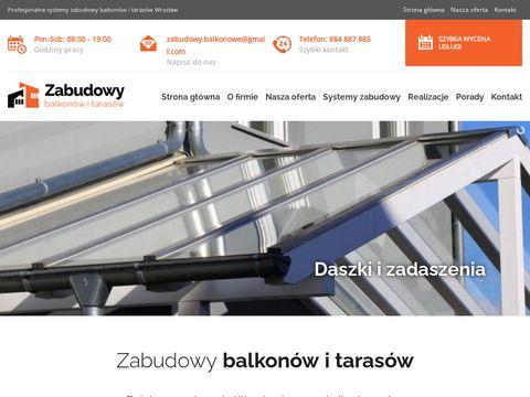 Zabudowy balkonów i tarasów Wrocław