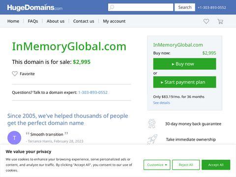 inmemoryglobal.com