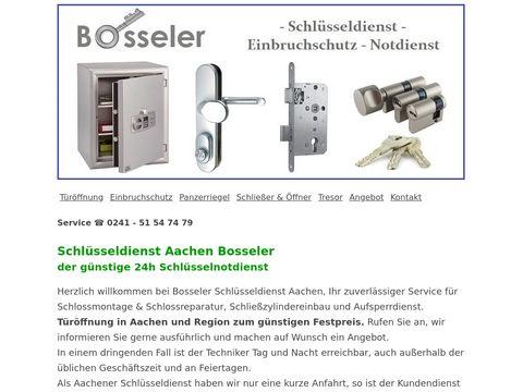 Bosseler Schlüsseldienst Aachen 24h Schlüsselnotdienst