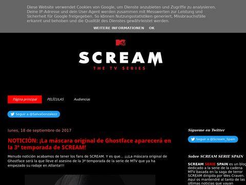 Scream Serie Spain thumbnail