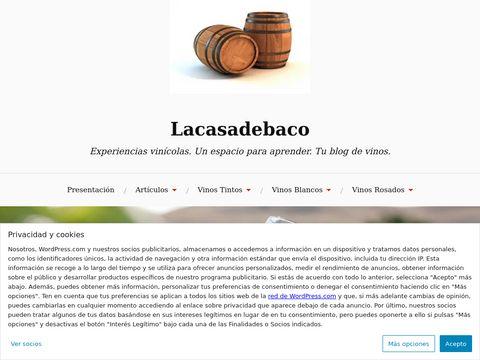 Lacasadebaco Experiencias vinícolas  thumbnail
