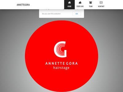 Annette Gora Hairstage früher Anrodelicut