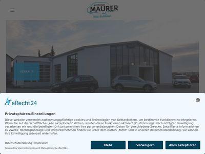 Autohaus Maurer GmbH - Verkaufsstandort