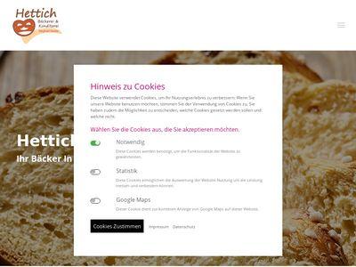 Bäckerei Hettich Inh. Siegfried Greiler