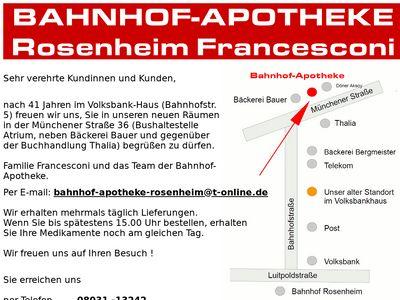 Bahnhof-Apotheke Rosenheim Francesconi