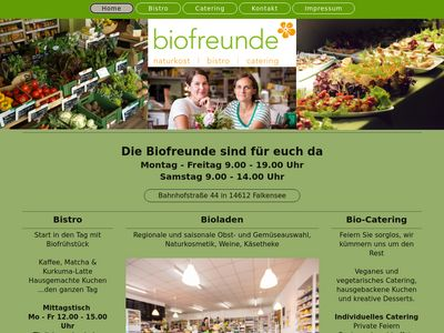 Biofreunde bistro naturkost catering
