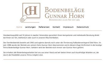 Bodenbeläge Gunnar Horn