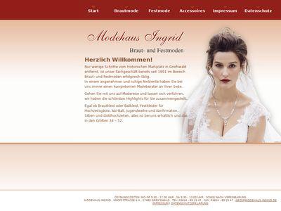 Braut- u. Festmoden Modehaus Ingrid