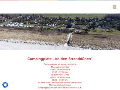 """Campingplatz """"An Den Stranddünen"""