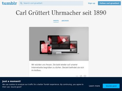 Carl Grüttert Uhrmacher