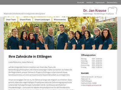 Dr.med.dent. Jan Krause Zahnarzt