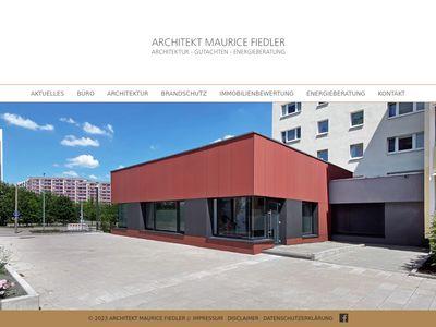 Architekt Maurice Fiedler