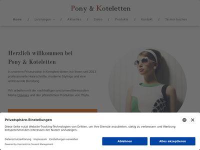 Friseur Pony + Koteletten