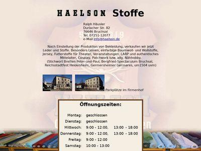 HAELSON Stoffe Hans Emil Häusler e.K.