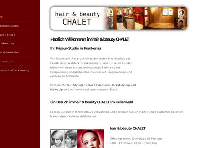 Hair + beauty CHALET