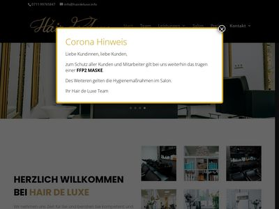 Friseursalon Hair de luxe