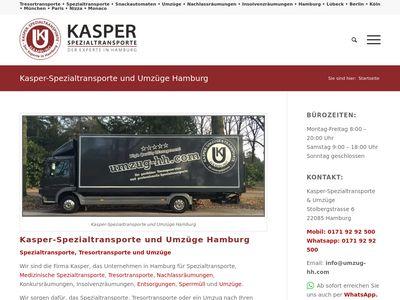 Kasper-Umzüge und Spezialtransporte