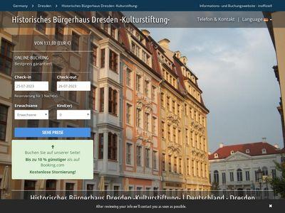 Historisches Burgerhaus Dresden -Kulturstiftung