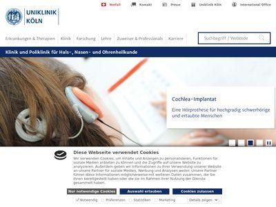 HNO - Klinik der Universität zu Köln