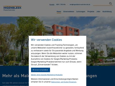 Armin Ingenbleek, Malerbetrieb