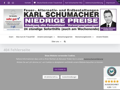 Karl Schumacher Bestattungen in Moers