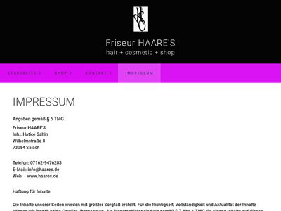 Friseur HAARE S