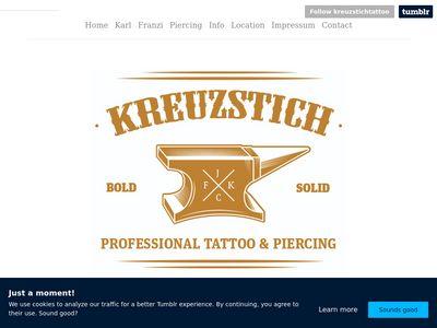 Kreuzstich Tattoo X-Berg