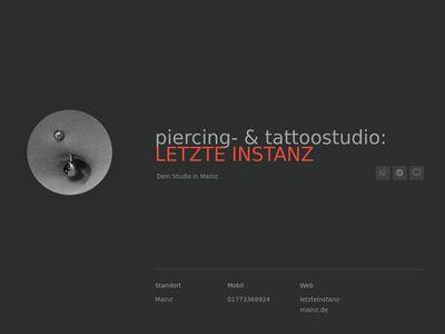 Piercing- & Tattoostudio: Letzte Instanz
