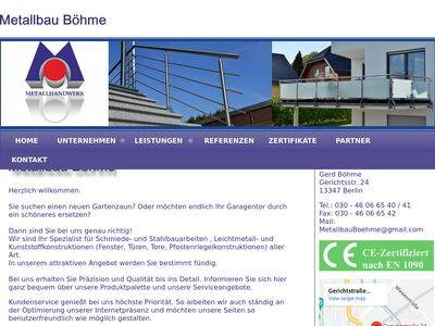 Metallbau Böhme