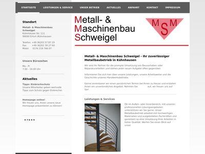 Metall- und Maschinenbau Schweigel
