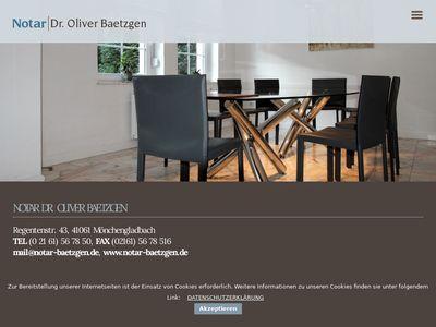 Notar Dr. Oliver Baetzgen