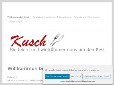 Kusch Fleischerei- Party-Service