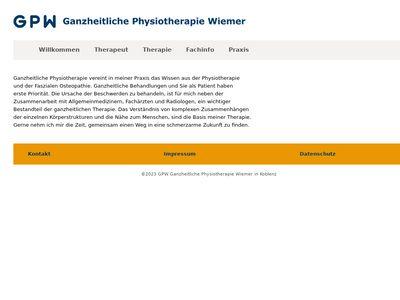 GPW Ganzheitliche Physiotherapie Wiemer
